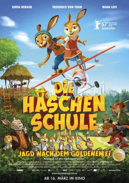 Filmplakat  Die Häschenschule- Jagd nach dem goldenen Ei