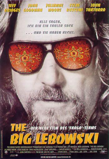 Filmplakat THE BIG LEBOWSKI - engl. OF