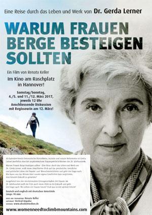 Filmplakat Warum Frauen Berge besteigen sollten - eine Reise durch das Leben und Werk von Dr. Gerda Lerner