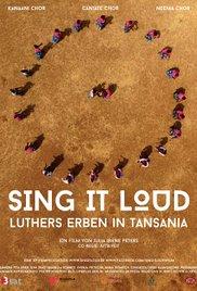 Filmplakat Sing it loud – Luthers Erben in Afrika