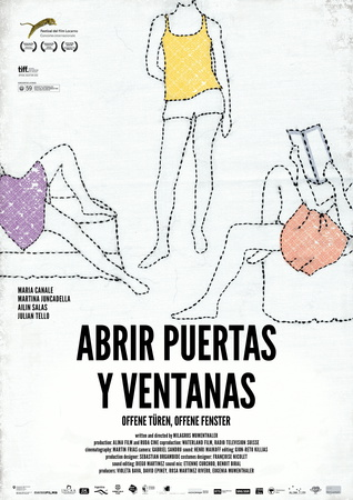 Filmplakat ABRIR PUERTAS Y VENTANAS - Offene Türen, offene Fenster - span. OmU