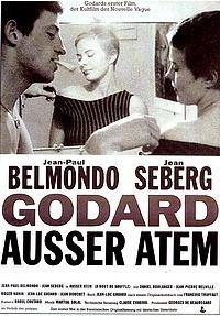 Filmplakat AUSSER ATEM (Å bout de souffle) – franz. OmU