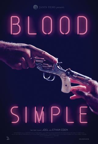 Filmplakat BLOOD SIMPLE - Eine mörderische Nacht - Directers Cut -Restaurierte Fassung