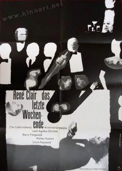 Filmplakat Zehn kleine Negerlein - Das letzte Wochenende