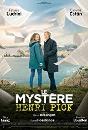 Filmplakat Der geheime Roman des Monsieur Pick - Le mystère Henri Pick - franz. OmU
