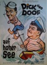 Filmplakat Dick und Doof auf hoher See - Laurel+Hardy auf hoher See