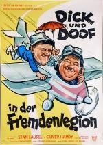 Filmplakat Dick und Doof in der Fremdenlegion - Laurel+Hardy in der Fremdenlegion