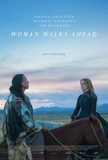Filmplakat Die Frau, die vorausgeht - WOMAN WALKS AHEAD - engl. OmU