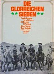 Filmplakat Die glorreichen Sieben - THE MAGNIFICENT SEVEN (1960) - engl. OmU