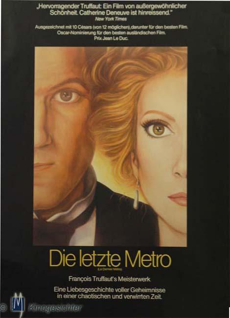 Filmplakat Die letzte Metro - Le dernier Métro