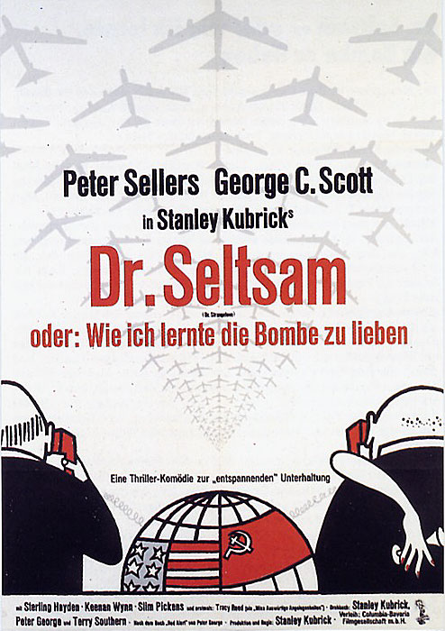 Filmplakat Dr. Seltsam oder wie ich lernte, die Bombe zu lieben