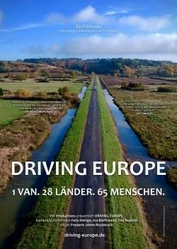 Filmplakat DRIVING EUROPE - 1 Van, 28 Länder, 65 Menschen