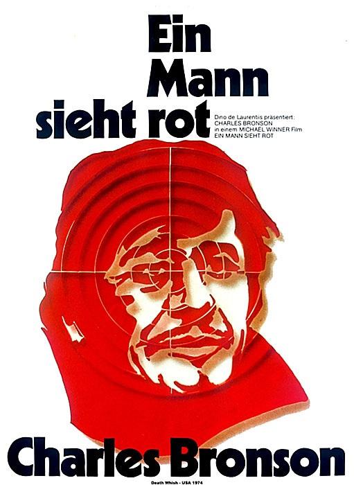 Filmplakat Ein Mann sieht rot - DEATH WISH - engl. OmU - UNCUT