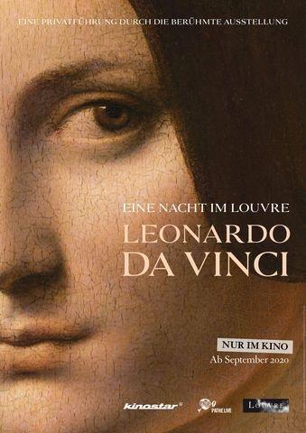 Filmplakat Eine Nacht im Louvre: LEONARDO DA VINCI