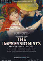 Filmplakat EXHIBITION ON SCREEN: DIE IMPRESSIONISTEN: Cézanne, Monet, Degas & Co. von Paris, London und den USA
