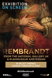 Filmplakat EXHIBITION ON SCREEN: Rembrandt - Aus der National Gallery, London und dem Rijksmuseum, Amsterdam - engl. OmU
