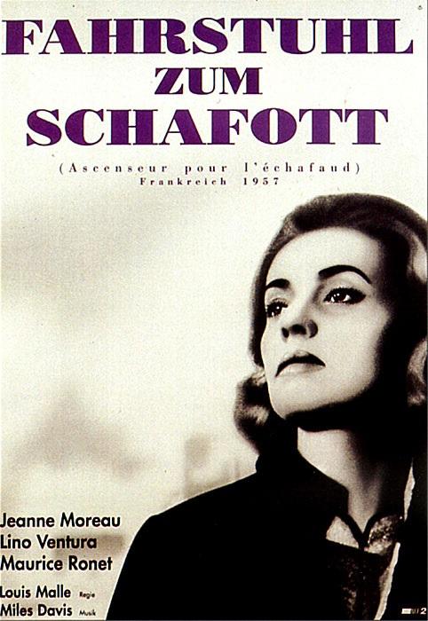 Filmplakat Fahrstuhl zum Schafott - Ascenseur pour l'échafaud - franz. OmU