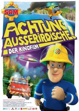 Filmplakat Feuerwehrmann Sam Achtung Ausserirdische