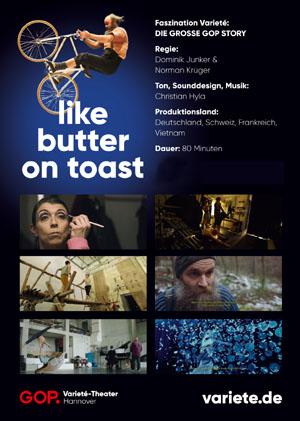 Filmplakat LIKE BUTTER ON TOAST - GOP-Varietéwelt