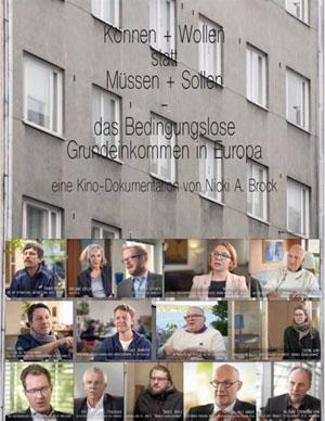 Filmplakat Können + Wollen statt Müssen + Sollen - Das Bedingungslose Grundeinkommen in Europa