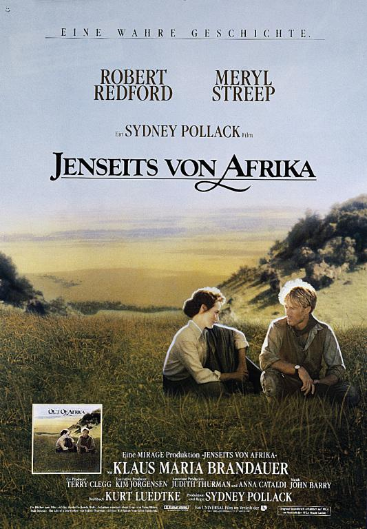 Filmplakat Jenseits von Afrika