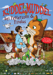 Filmplakat Kuddelmuddel bei Pettersson und Findus