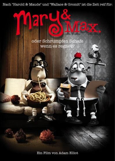 Filmplakat MARY & MAX - oder schrumpfen Schafe wenn es regnet?