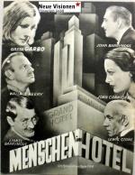 Filmplakat Menschen im Hotel - GRAND HOTEL - engl. OmU