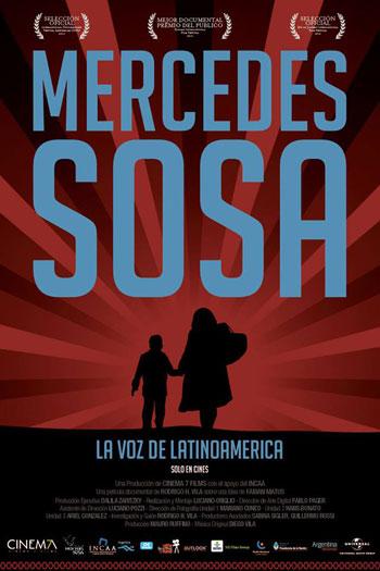 Filmplakat CINESPAÑOL: MERCEDES SOSA - die Stimme Lateinamerikas - la voz de Latinoamérica - span. OmU