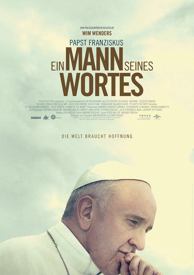 Filmplakat PAPST FRANZISKUS - Ein Mann seines Wortes