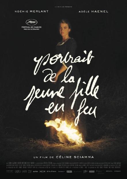 Filmplakat Porträt einer jungen Frau in Flammen - Portrait de la jeune fille en feu- franz. OmU