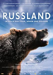 Filmplakat RUSSLAND - Im Reich der Tiger, Bären und Vulkane