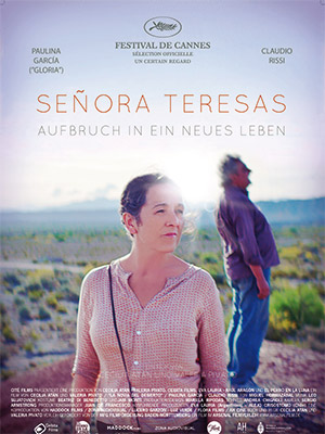 Filmplakat SEÑORA TERESAS AUFBRUCH IN EIN NEUES LEBEN - LA NOVIA DEL DESIERTO - span. OmU