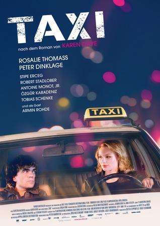 Filmplakat TAXI nach dem Roman von Karen Duve