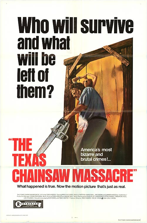Filmplakat THE TEXAS CHAINSAW MASSACRE (1974) - engl. OmU