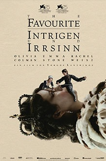 Filmplakat THE FAVOURITE - Intrigen und Irrsinn