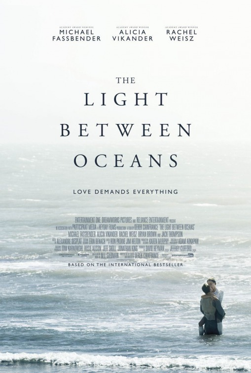 Filmplakat THE LIGHT BETWEEN OCEANS - engl. OmU