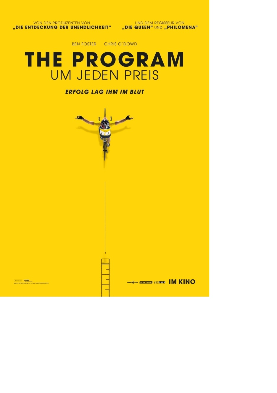 Filmplakat THE PROGRAM - Um jeden Preis