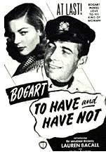 Filmplakat HABEN UND NICHTHABEN - TO HAVE AND HAVE NOT