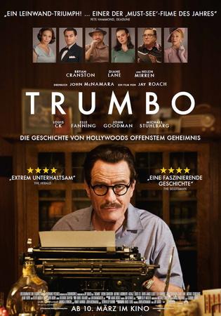 Filmplakat TRUMBO - Die Geschichte von Hollywoods offenstem Geheimnis