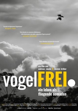 Filmplakat VOGELFREI. Ein Leben als fliegende Nomaden