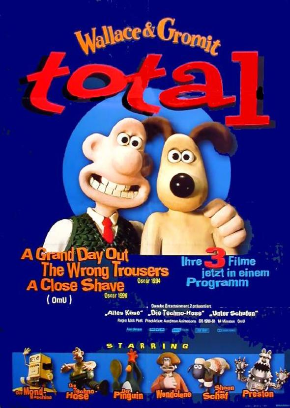 Filmplakat Wallace & Gromit TOTAL - engl. OmU
