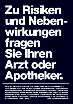 Filmplakat Nicht alles schlucken – Ein Film über Krisen und Psychopharmaka.