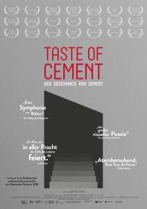 Filmplakat Taste of cement - Der Geschmack von Zement