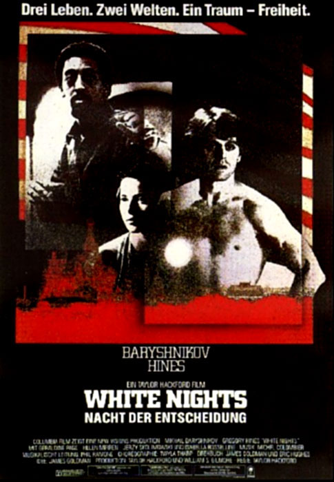 Filmplakat White Nights - Die Nacht der Entscheidung (1985)